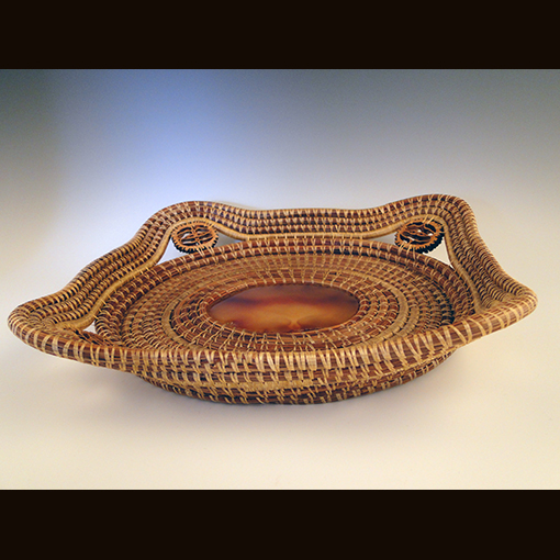 A basket called Agate & Pine made by Ivy Howard.
