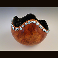 A private collection gourd made by Ivy Howard.