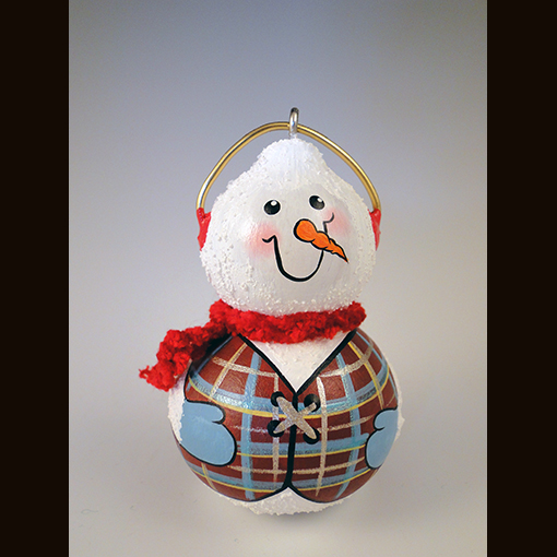 A gourd called Snowmen Ornaments made by Ivy Howard.