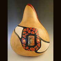 A gourd made and sold by Ivy Howard.