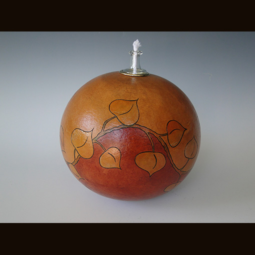 A gourd called Aspen Lights made by Ivy Howard.
